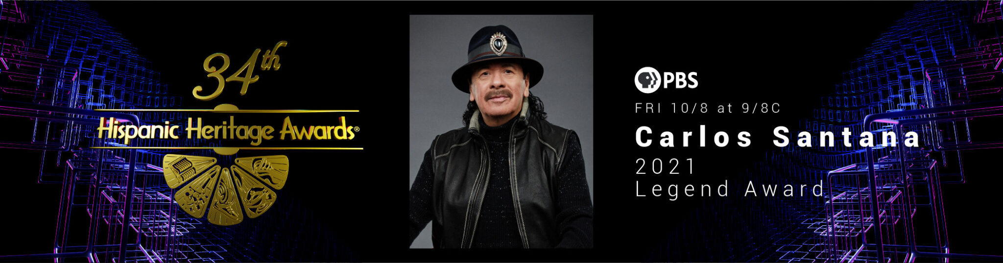 34th Hispanic Heritage Awards PBS Carlos Santana
